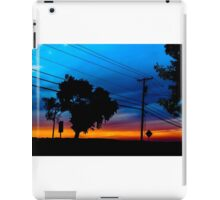 Sunset through the trees iPad Case/Skin