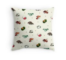 Assorted Sushi Throw Pillow