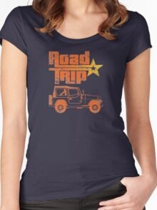 Road Trip in a Jeep Women's Fitted Scoop T-Shirt