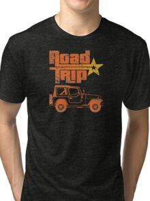 Road Trip in a Jeep Tri-blend T-Shirt