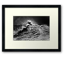 Winter Waves At Pipeline 13 Framed Print
