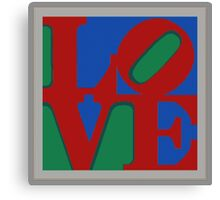 Knitted love Poster Canvas Print