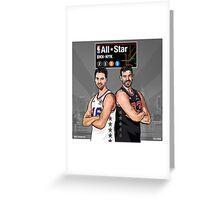 PAU & MARC - All Star NYC 2015 - SMILE DESIGN Greeting Card
