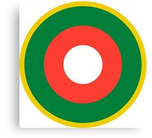 Roundel of the Malagasy Air Force  Canvas Print