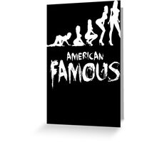 Custom Funny American Famous  Greeting Card