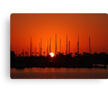 Marina Del Rey Sunset Canvas Print