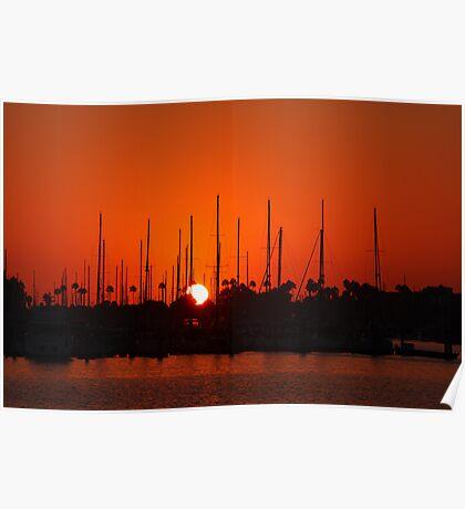 Marina Del Rey Sunset Poster