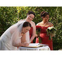 Signature Of Love Photographic Print