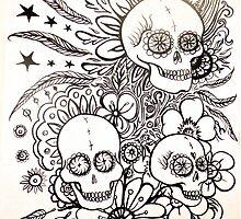 native indian tattoo inspired art by melaniedann