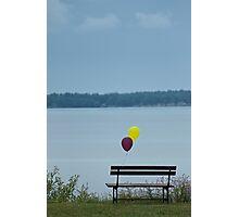 Sad lonely baloons Photographic Print