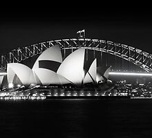 75th Anniversary of the Harbour Bridge with Opera House  by Beth  Morley