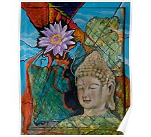 Buddha Dreams Amidst the Rubble Poster
