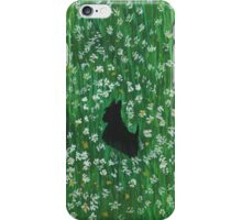 Scottie Dog 'Among The Wild Flowers' iPhone Case/Skin