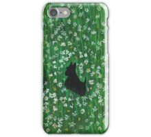 Scottie Dog 'Among The Wild Flowers' iPhone Case/Skin