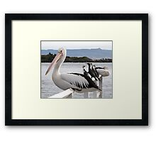 Don't Come Another Step Closer Framed Print