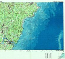 Maine USGS Historical Map Kittery 808006 1985 100000 by wetdryvac