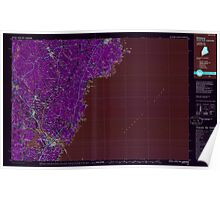 Maine USGS Historical Map Kittery 808007 1985 100000 Inversion Poster