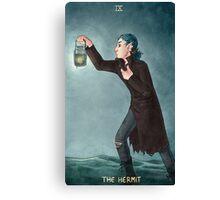 Toothy Tarot: Locust (The Hermit) Canvas Print