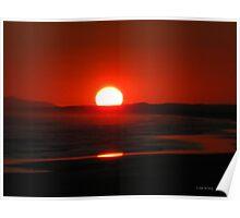 Stunning Red Sunset Poster