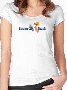 Panama City Beach - Florida. Women's Fitted Scoop T-Shirt