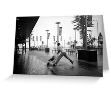 Rainy Corso IX - Tribute to Henri Cartier-Bresson Greeting Card