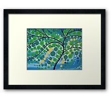 Tree of Life in Green Framed Print