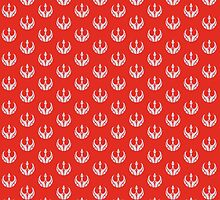 Rebels Segmented Logo (Grey on Red, Pattern 2) by JoshBeck