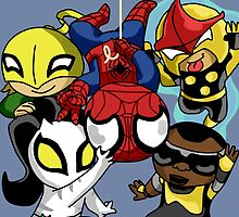 Chibi Spiderman and Friends  by LorynTisdale