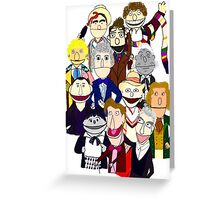 Twelve Doctors Muppet Style Greeting Card