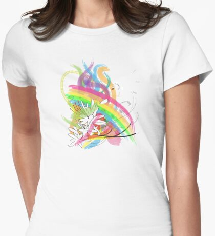 Paper flowers Womens Fitted T-Shirt