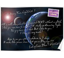 Love Letter from Space Poster