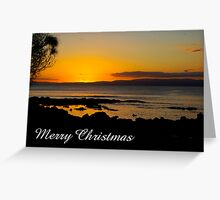 Coles Bay sunset, Merry Christmas Greeting Card