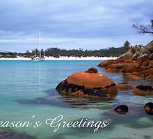 Wineglass Bay, Season's Greetings by Steven Weeks