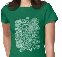paisley white  Womens Fitted T-Shirt