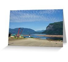 Canoe Sawmill Greeting Card