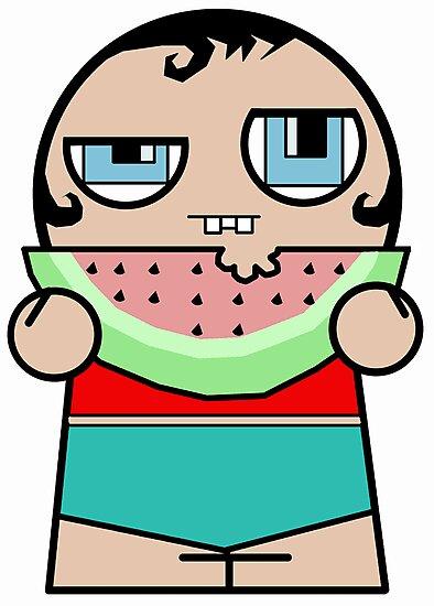 Watermelon Zombie Kid by stevegrig