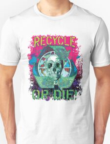 Recycle or Die Earth Day Skull Gear T-Shirt