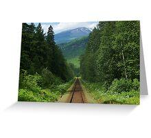 wildflower railway Greeting Card