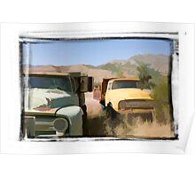 Grandpa's Old Trucks Poster