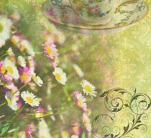 Tea Cup Green by Lisa Wilson