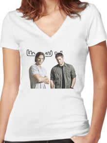 Moose and Squirrel Women's Fitted V-Neck T-Shirt