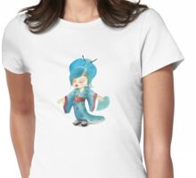 chibi girl in kimono Womens Fitted T-Shirt