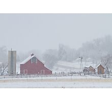 Snowy Country Winter Day Photographic Print