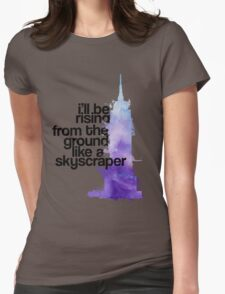 like a skyscraper watercolor Womens Fitted T-Shirt