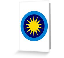 Roundel of the Royal Malaysian Air Force  Greeting Card
