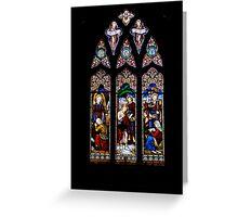 sanctuary window Greeting Card