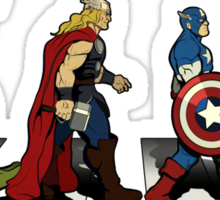 Avenger Road Sticker