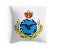Crest of the Royal Malaysian Air Force Throw Pillow
