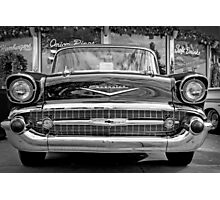Black Antique Car Photographic Print