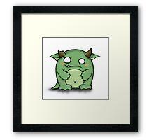 Cute Monster Framed Print